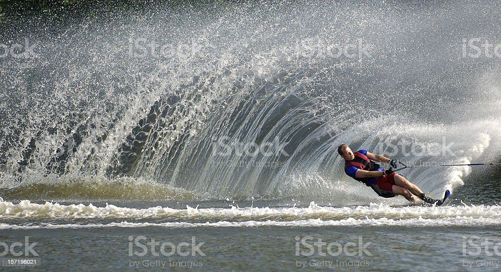 Waterskier in Action stock photo