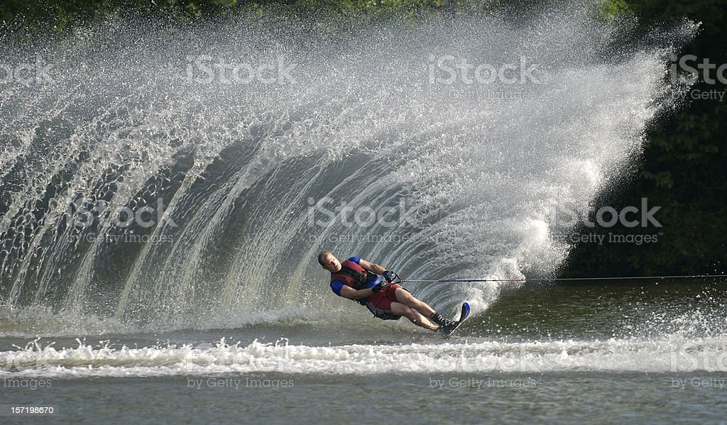Waterskier stock photo
