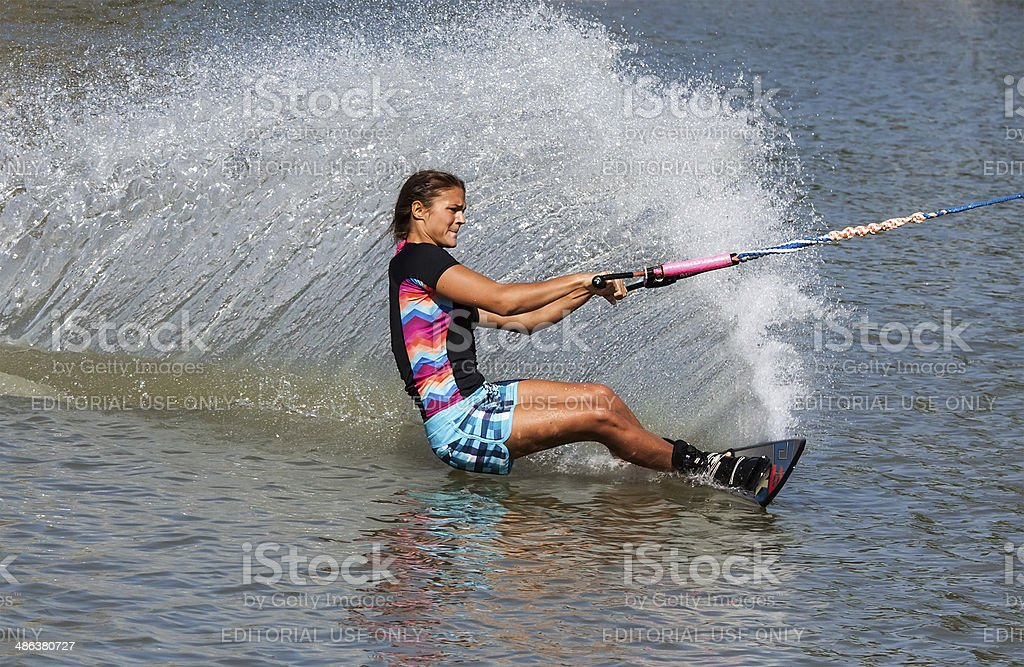Waterskiier stock photo