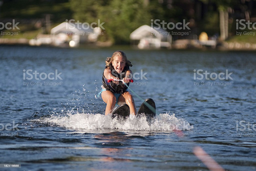 Waterskiing Girl royalty-free stock photo