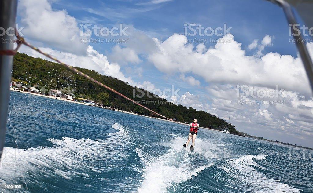 Waterskiing man. royalty-free stock photo