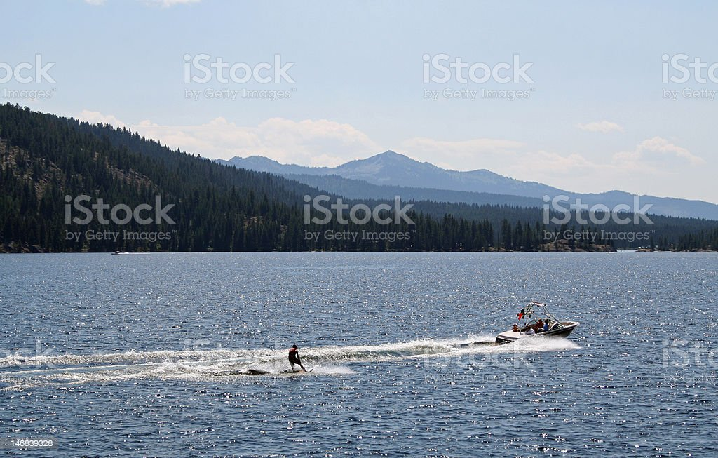 Waterskiing royalty-free stock photo