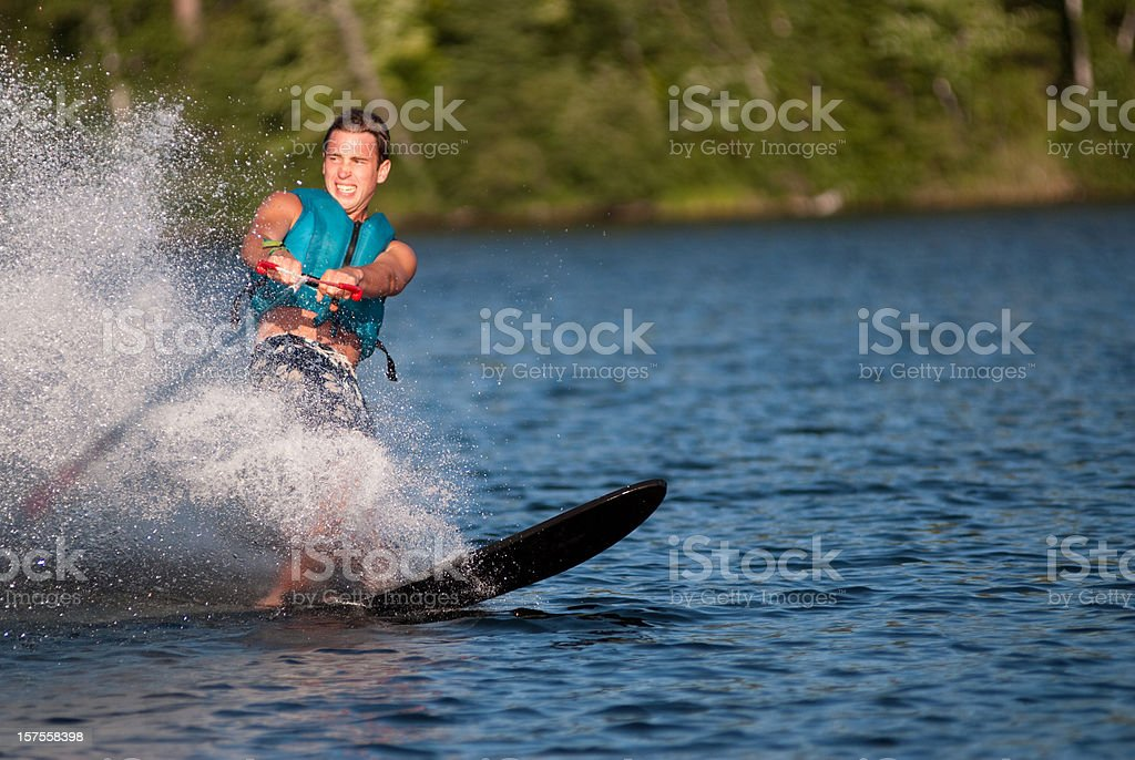 Waterskiing stock photo