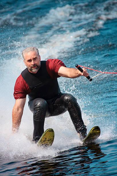 waterskiing stock photo