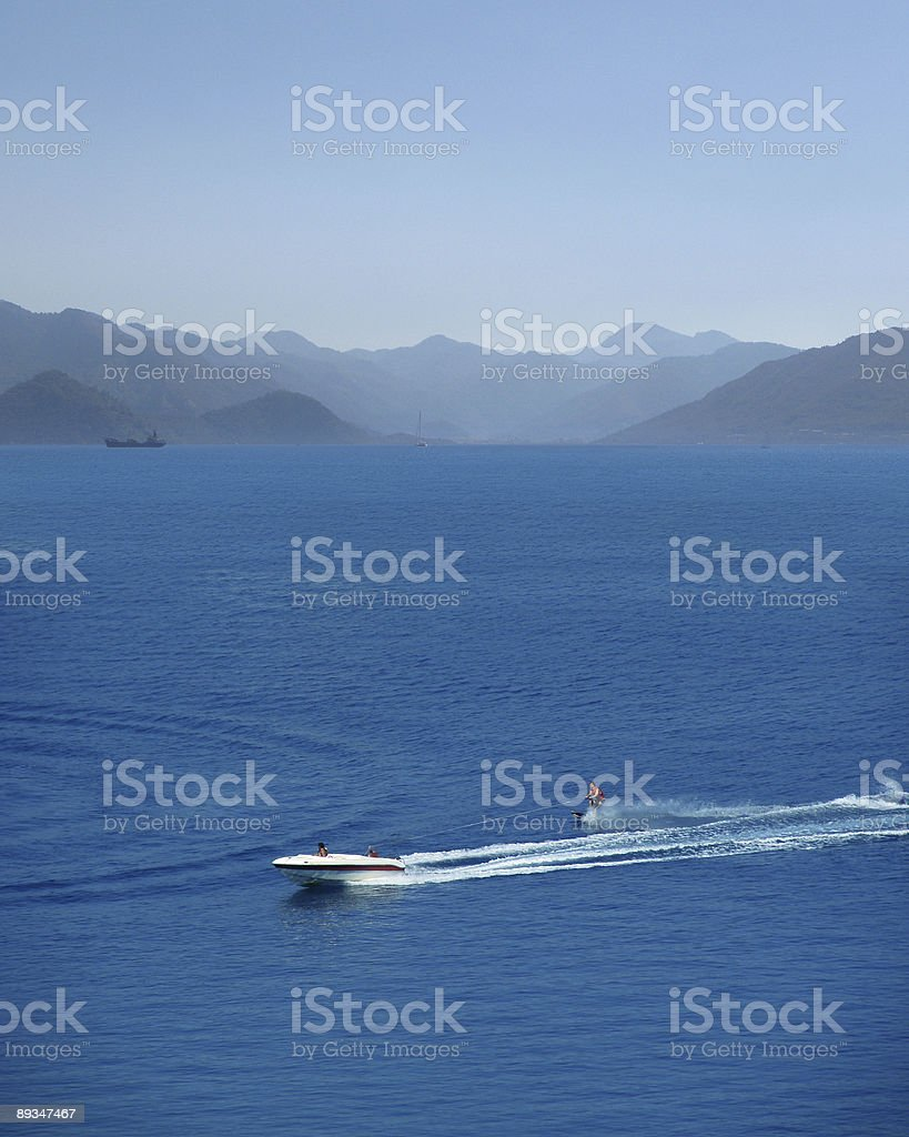 Waterskiing royalty-free stock photo
