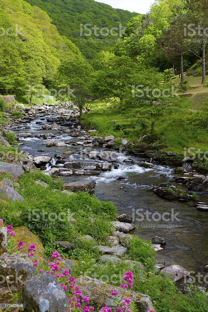 Watersmeet in Lynmouth Devon stock photo