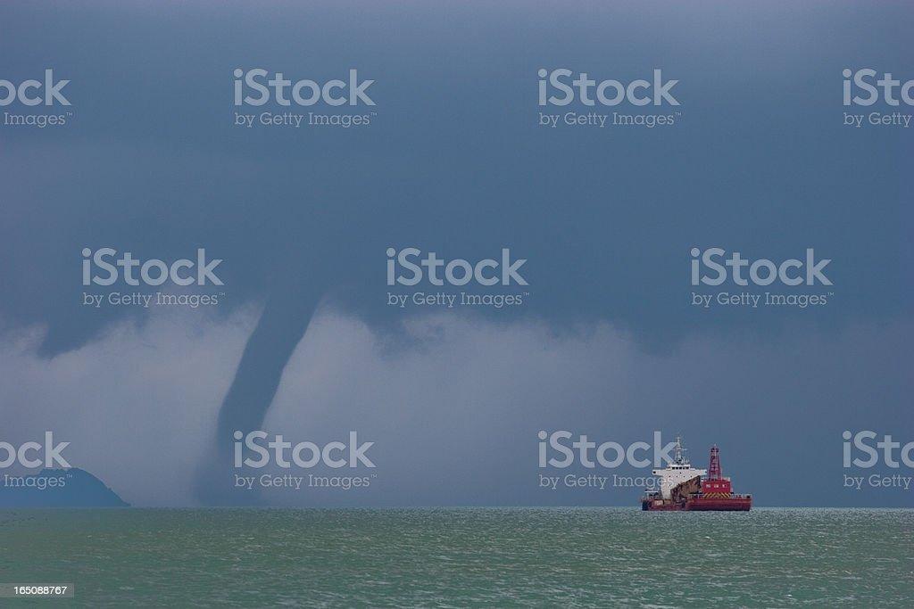 Waterspout (Tornado) royalty-free stock photo