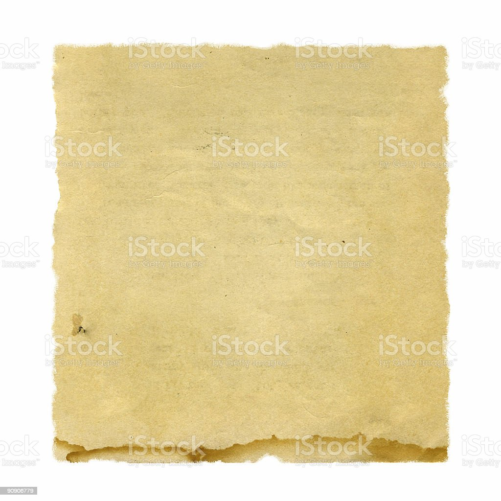 Water-Stained Square Paper royalty-free stock photo