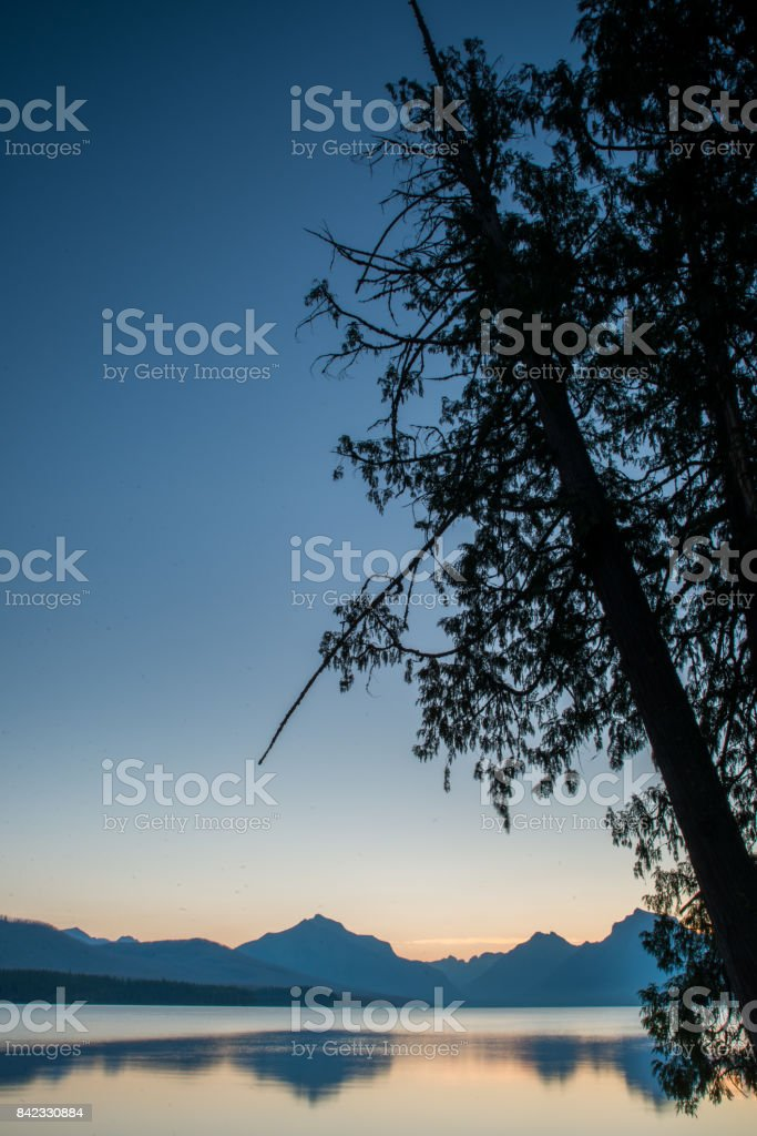 Waterton and Glacier International Peace Park stock photo