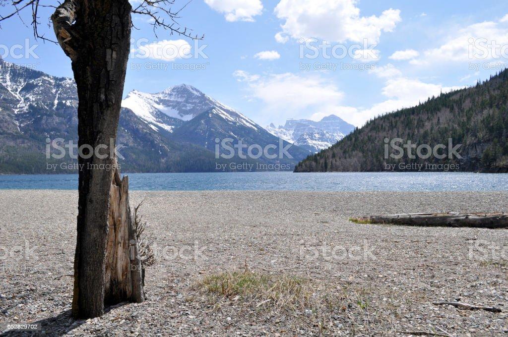 Waterton Lake stock photo