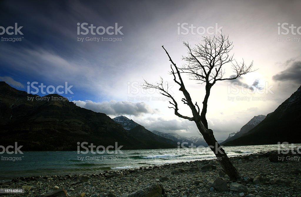Waterton Lake Storm stock photo