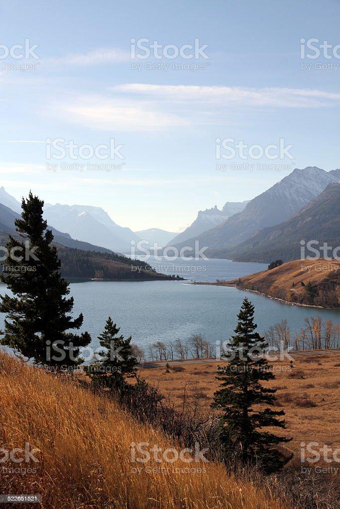 Waterton Lake Valley stock photo