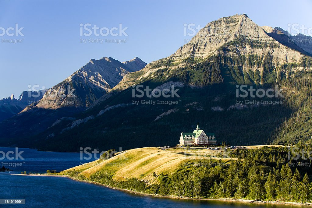 waterton lakes national park stock photo