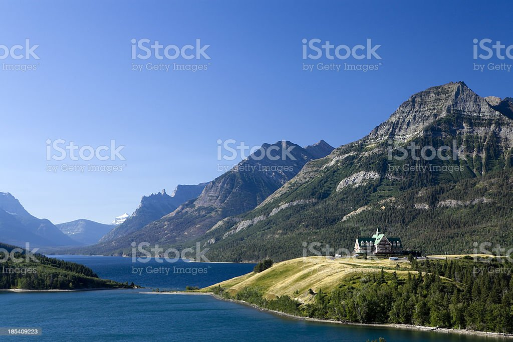 waterton lakes national park stock photo