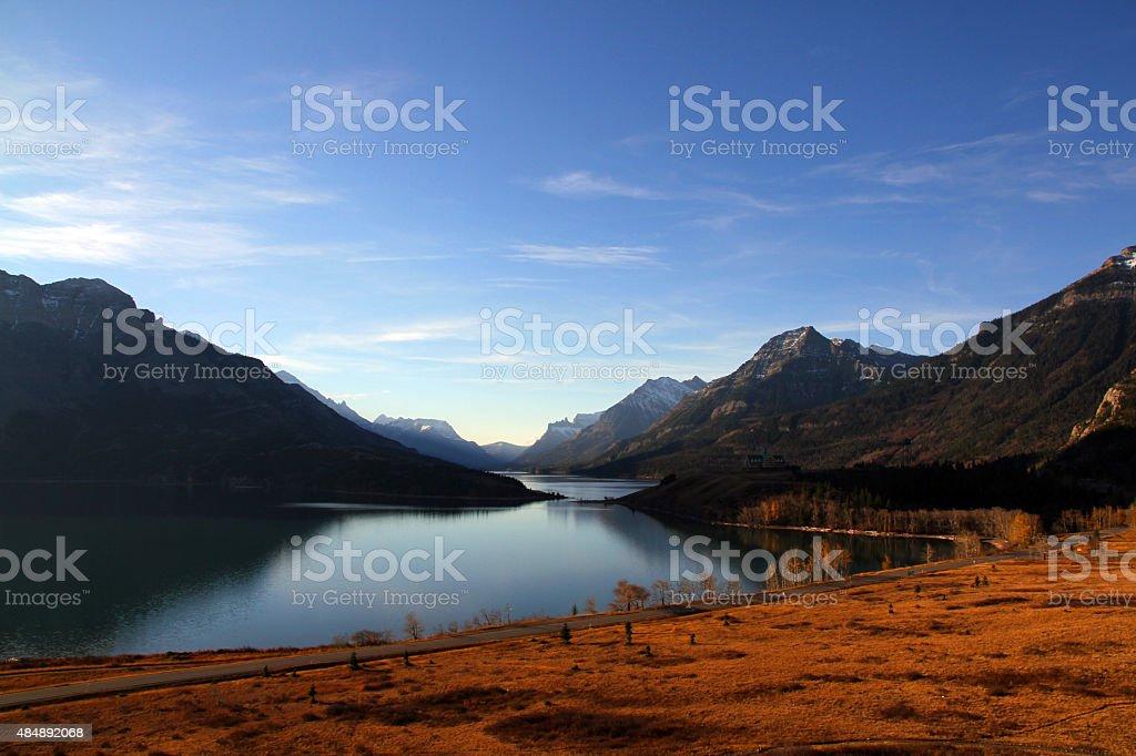 Waterton Panorama stock photo