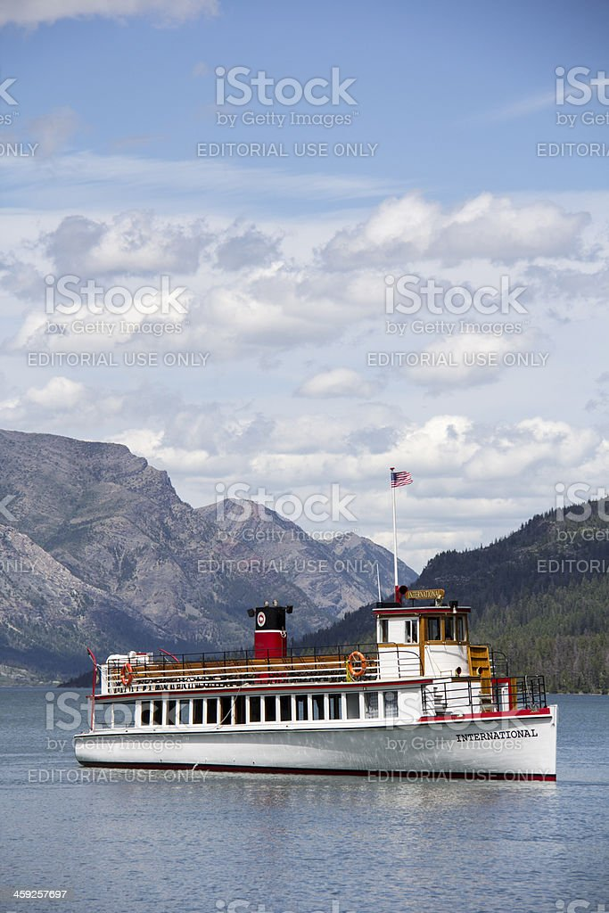 Waterton Tour Boat royalty-free stock photo