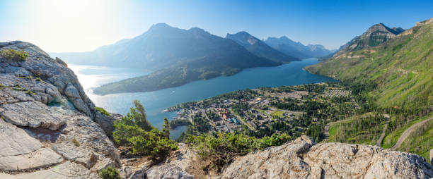 Waterton Townsite from Bear's Hump Trail