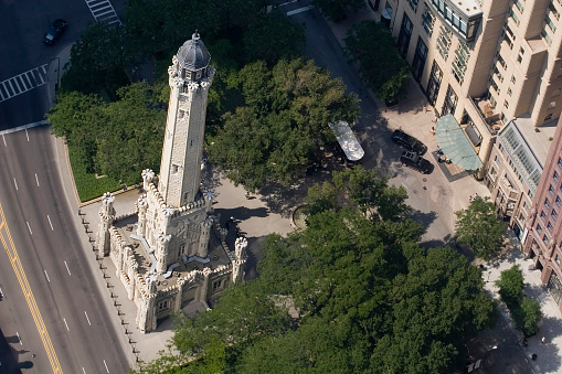 Watertower. Chicago Aerial View