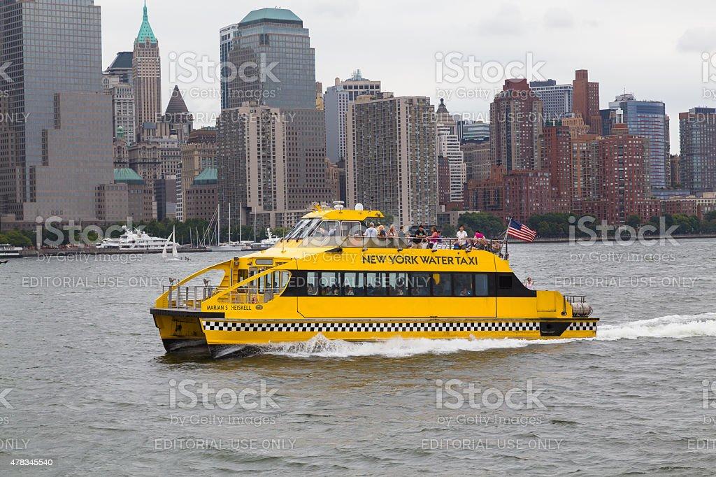NY Waterway Boat in New York City stock photo