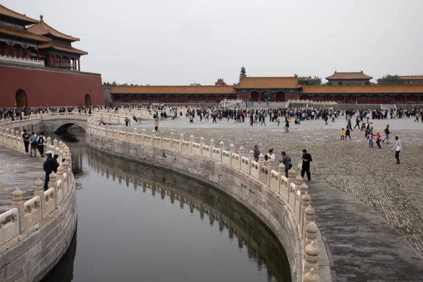 Wasserstraße in Innenbereichen der Verbotenen Stadt Peking – Foto