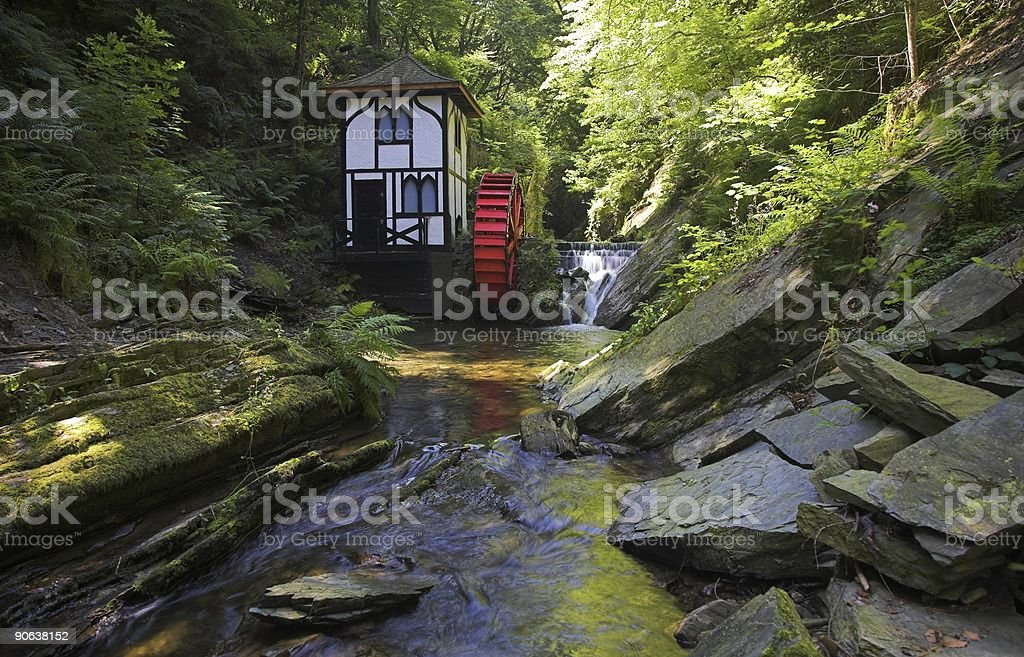Waterwheel at Groudle Glen royalty-free stock photo