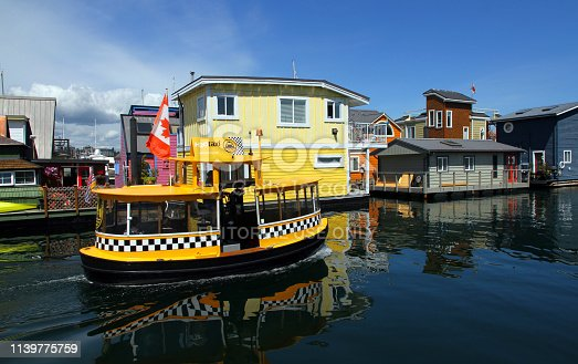 A water taxi in Victoria Harbor, the capital city of British Columbia