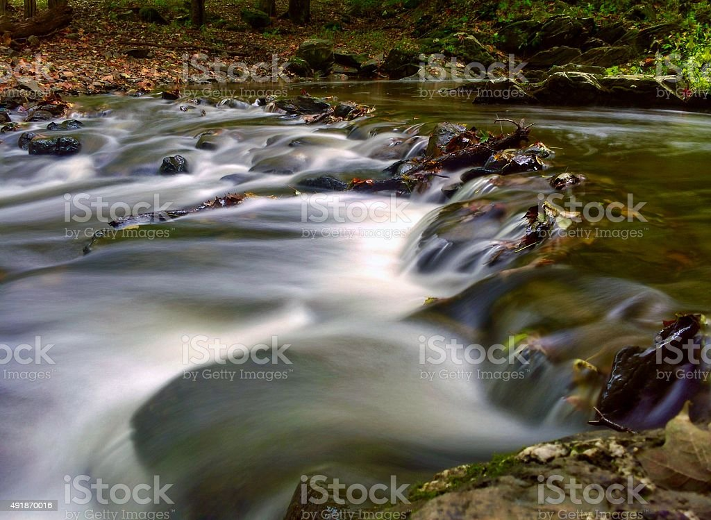 Watery steps stock photo