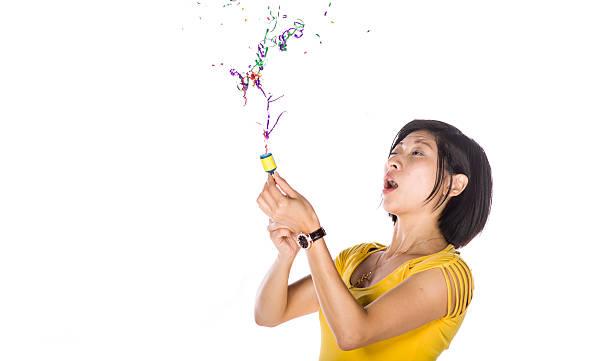 Wating  Asian girl stock photo