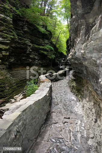 istock Watkins Glen State Park - Hiking Path - Canyon Trail - Finger Lakes 1299683783