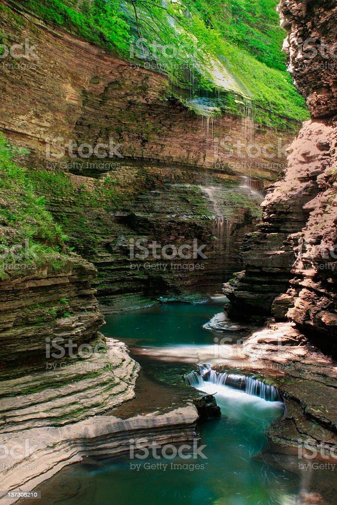 Watkins Glen State Park, NY - Rainbow Falls stock photo