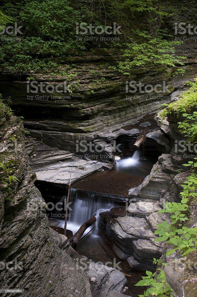 Watkins Glen Waterfall royalty-free stock photo