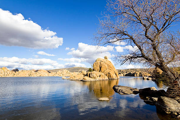 watson lake - spring stock photos and pictures