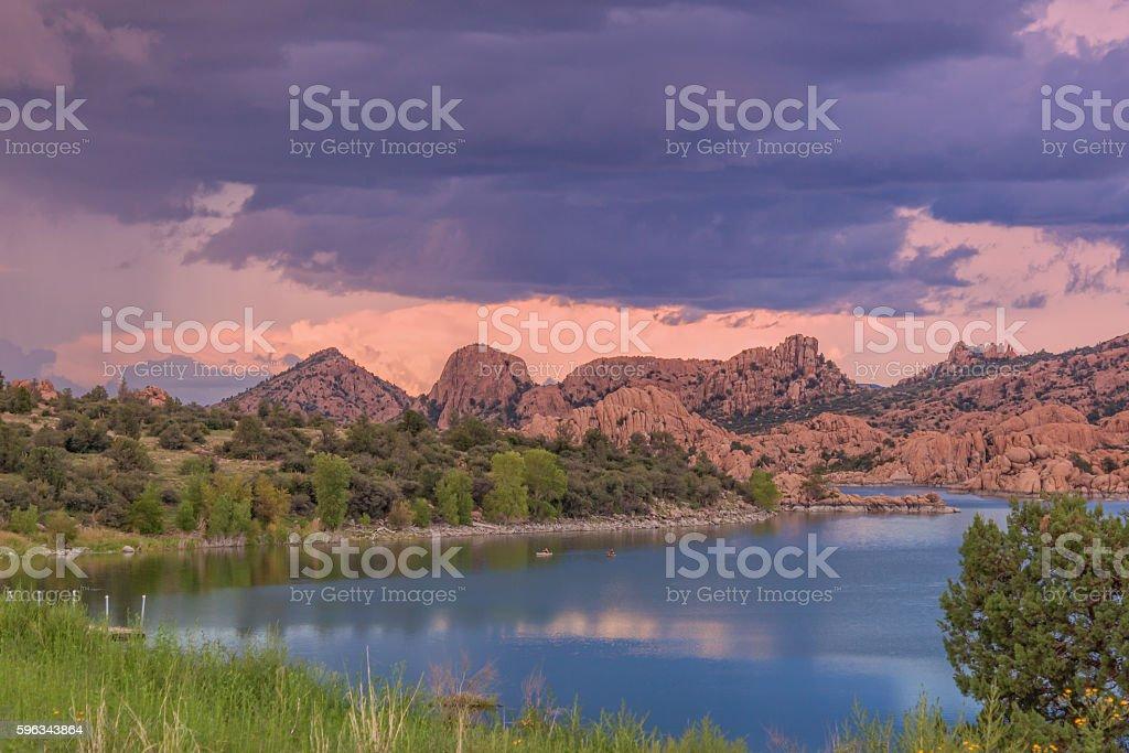 See Lake Watson Sonnenuntergang Lizenzfreies stock-foto