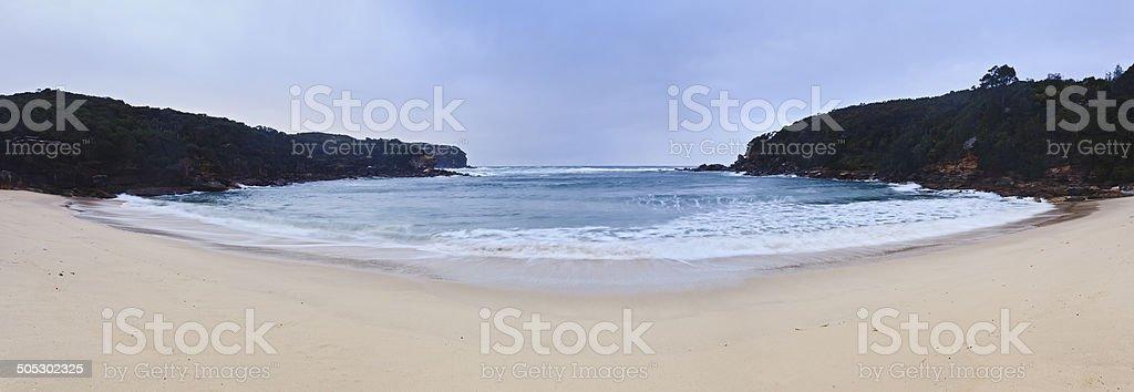 Wattamolla Beach Panorama bildbanksfoto