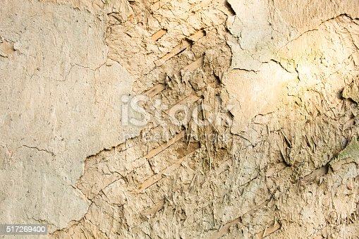 istock Wattle and daub wall texture 517269400
