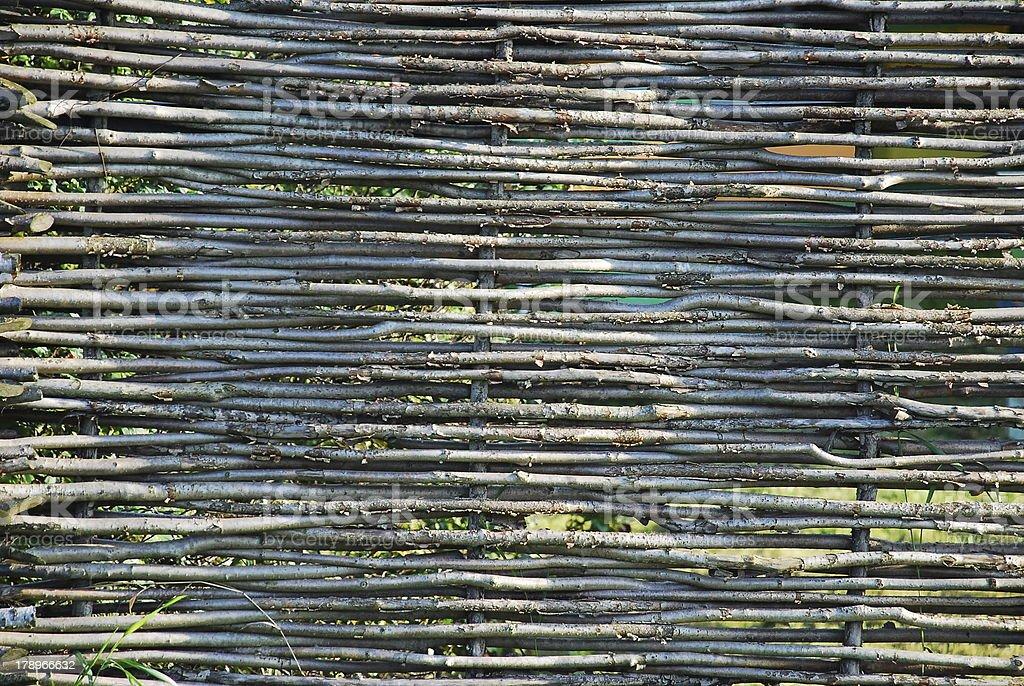 Wattle Fence royalty-free stock photo