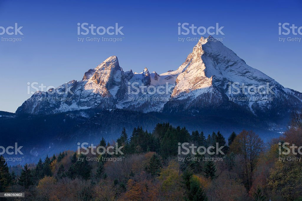 Watzmann at Morning stock photo
