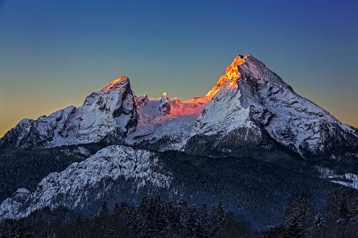Watzmann at Sunrise in Winter