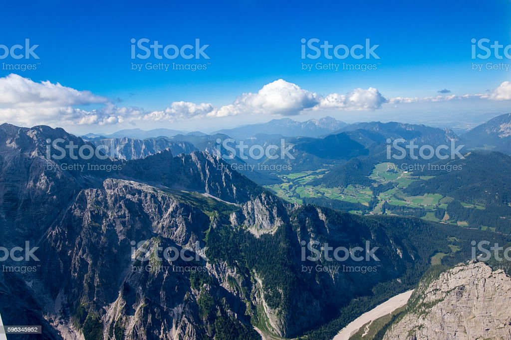 Watzmann, Königssee, aerial view royalty-free stock photo