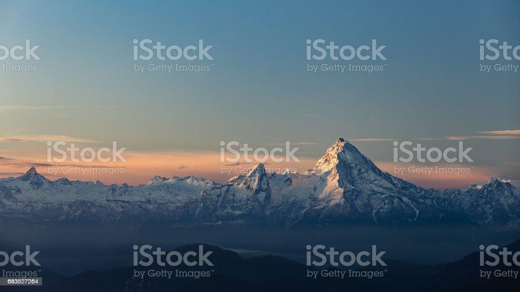 Watzmann Sunrise stock photo