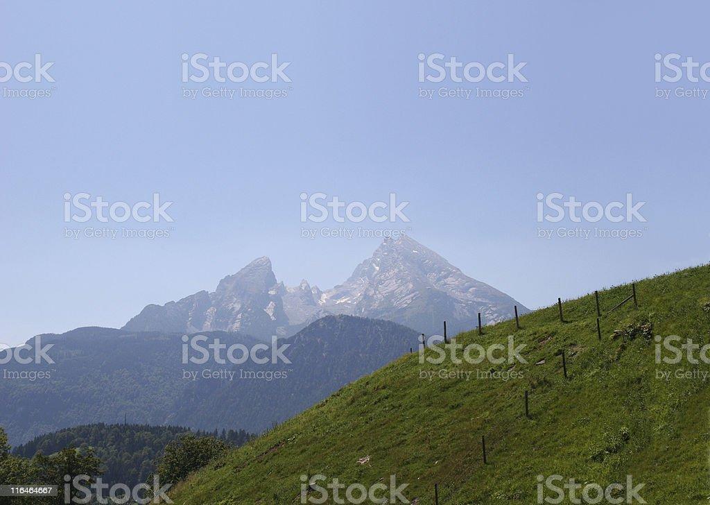 Watzmann von Berchtesgaden aus – Foto