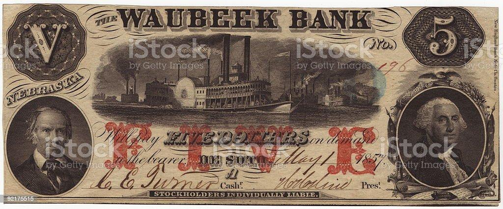 Waubeek Bank royalty-free stock photo