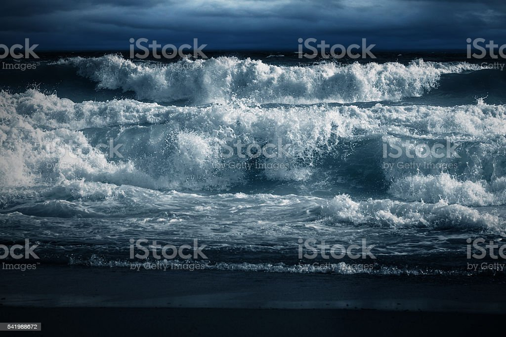Wave after Wave stock photo
