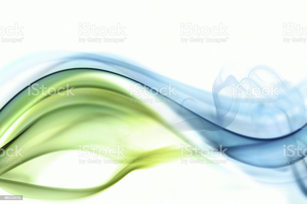 Wave and smoke background stock photo