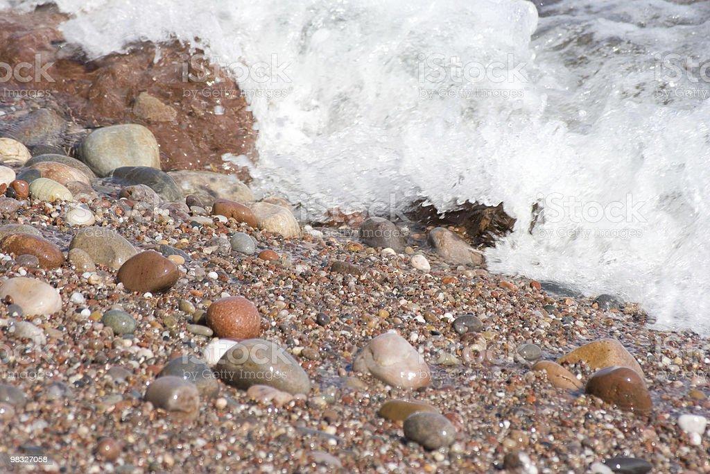 Onda di arrivo il seashores foto stock royalty-free