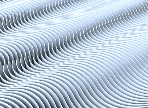 921696186 istock photo Wave band abstract background surface 3d rendering 1049556892