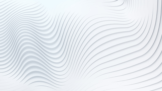 Wave band surface Abstract white background 3d rendering