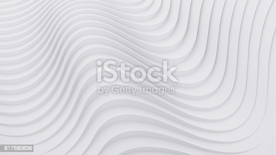 istock Wave band abstract background surface 3d rendering 617580836