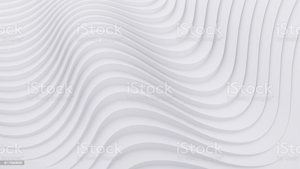 Wave band abstract background surface 3d rendering – Foto