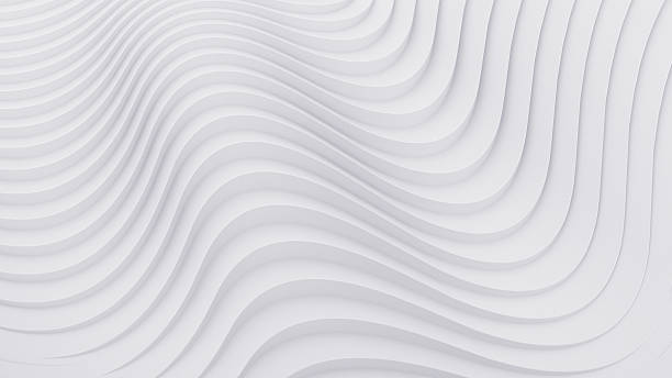 Wave band abstract background surface 3d rendering - foto de stock